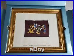 Walt Disney World Framed Millennium 2000 Limited Edition Pin Set NIB