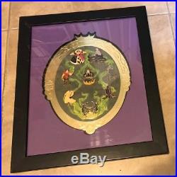 Walt Disney World Mirror Mirror Villians 8 Pin Framed Limited Edition Set with COA