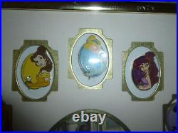 Walt Disney World Princess Premiere Birthstone Complete Set Framed of 12