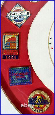 Walt Disney World Resorts 2000 Framed 22 Pin Set Limited Edition