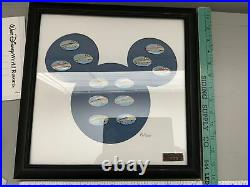 Walt Disney World Resorts Framed Monorail Pin Set LE 89/300 Rare Retired