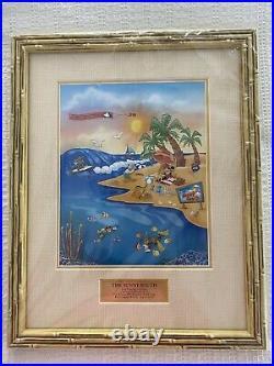 Walt Disney World The Sunny South Framed Pin Set LE 25 NEW 2005