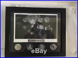 Walt Disney World Theme Park Litho & 4 Coins Framed Set. Discontinued Rare In Uk