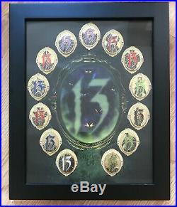 Walt Disney World WDW 13 Reflections Evil 13 Pin Set Complete Framed