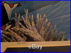 Walt Disney Wyland Ariel's Dolphin Ride Signed and framed Lithograph 368/950