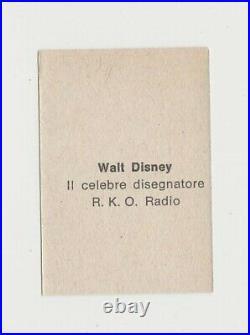 Walt Disney circa 1950 Nannina Small Trading Card Film Frame Design E5