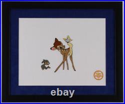 Walt Disney's Bambi Ltd. Ed. 16x19 Custom Framed Animation Serigraph Display