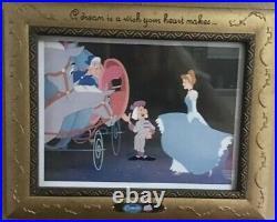 Walt Disney's Cinderella 4 piece Framed Picture Set, BEAUTIFUL COLLECTIBLE