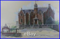 Walt Disney's Disney World Haunted Mansion Attraction Concept Large Framed Print