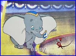 Walt Disney's Dumbo & Timothy Mouse 15x18 Custom Framed Animation Serigraph Cel