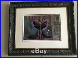 Walt Disney's Maleficent Hand Painted Cel Hard To Find Framed