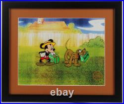 Walt Disney's Mr. Mouse Takes a Trip 16x19 Custom Framed Animation Serigraph