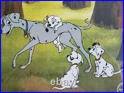 Walt Disney's Perdita 101 Dalmatians 15x18 Custom Framed Animation Serigraph Cel