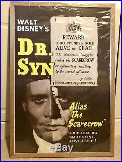 Walt Disneys Doctor Syn Movie Poster Extremely Rare Mint Condition Framed