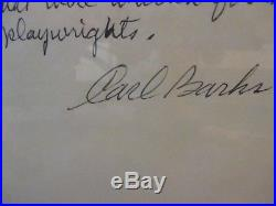 Walt Disneys Donald Duck 50th 1984 Framed Signed Carl Barks/nash/hannah Original