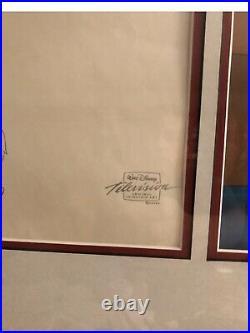 Walt Disneys Tailspin original Cell & Stetch framed