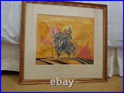 Walt Peregoy Disney Legend Unbelievable Colrful Painting In Frame 1963 Signed
