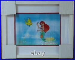 Walt disney The Little Mermaid Serigraph cel with background and framed