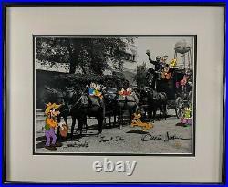 Walt's Stagecoach FRAMED Disney Mickey Minnie Donald Daisy Duck Goofy Pluto