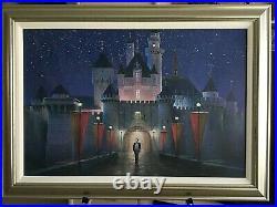 Walts Magic Moment Peter Ellenshaw Framed Giclee 147/150 Disney Artwork 2001