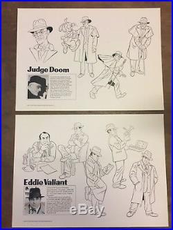 Who Framed Roger Rabbit Style Guide Folder + 18 Model Sheets (Walt Disney 1987)