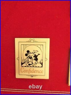 With Walt Four C's Commemorative Framed Series #8 LE Pin Set 2002 with Box