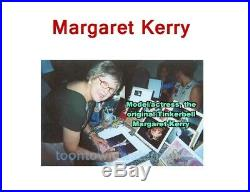 You Think I'm Cute Autographed Margaret Kerry Tinker Bell Walt Disney GOLD FRAME